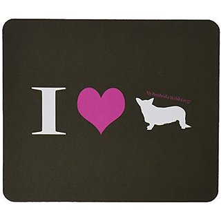 Rikki Knight I Love My Pembroke Welsh Corgi Dog Design Lightning Series Gaming Mouse Pad (MPSQ-RK-41467)