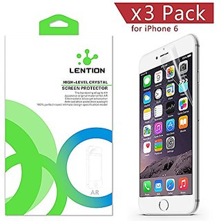 LENTION PET Crystal Clear Screen Protector for 4.7-inch iPhone 6s , iphone 6 (3 Packs) Front Screen High Quality HD 4H H