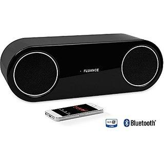Fluance Fi30 High Performance Wireless Bluetooth Wood Speaker System with aptX Enhanced Audio (Piano Black)