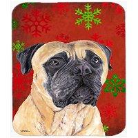 Carolines Treasures Mouse/Hot Pad/Trivet, Mastiff Red & Green Snowflakes Holiday Christmas (SC9425MP)