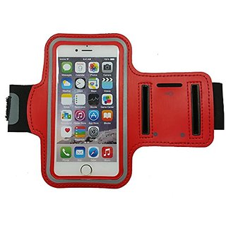 DK Sport Armband with Key Holder for iPhone /Samsung/Sony/HTC/LG (5.5 Inch Red)
