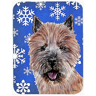Carolines Treasures Norwich Terrier Winter Snowflakes Mouse Pad/Hot Pad/Trivet (SC9782MP)