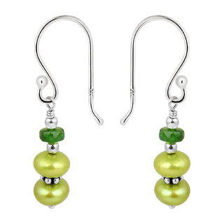 Pearlz Ocean 925 Silver Fresh Water Pearl Earrings.