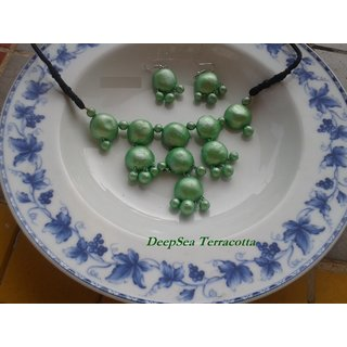 Deepsea Terracotta Jewellery - Neckset with earrings DSJ/N04