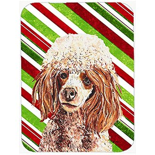 Carolines Treasures Red Miniature Poodle Candy Cane Christmas Mouse Pad/Hot Pad/Trivet (SC9795MP)