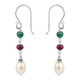 925 Silver  Fresh Water Pearl Earrings by Pearlz Ocean.