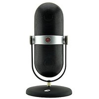 IQualTech Wireless Bluetooth Speaker With Built In Mic And Microphone Style Stand (Black)