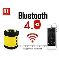 Outdoor/ Indoor Waterproof Wireless Bluetooth Speaker For IPhone And Android Devices Yellow & Black From MyraBec(tm)