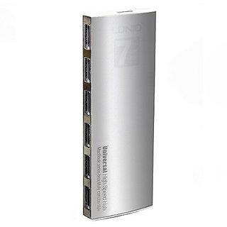 Black Menba 7-Port Universal Rapid Aluminum USB Hub/Adapter 2.0 with 37