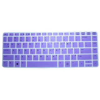 CaseBuy Soft Silicone Gel Keyboard Protector Skin Cover for HP ProBook 430 440 445 640 645 G1 G2 Series US Version (Purp