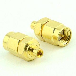 RF coaxial coax adapter SMA male to MMCX female
