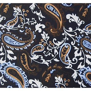 3dRose LLC 8 x 8 x 0.25 Inches Mouse Pad, Black Blue/Brown Paisley (mp_61903_1)