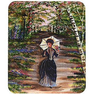 Carolines Treasures Fancy Lady on a Stroll Mouse Pad/Hot Pad/Trivet (CN5056MP)