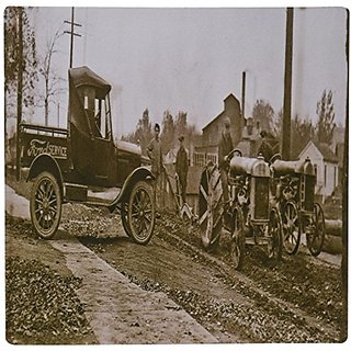 3dRose LLC 8 x 8 x 0.25 Inches 1920s Ford Service Truck and Tractors Mouse Pad (mp_16208_1)