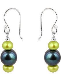 925 Silver Earrings by Pearlz Ocean Presents Color's of Fresh Water Pearls.