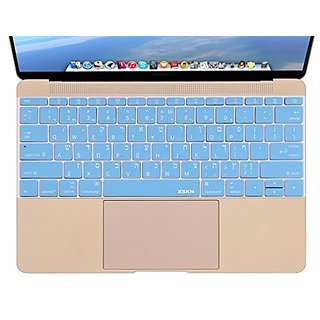 XSKN Hebrew Silicone Keyboard Skin Cover for MacBook 12