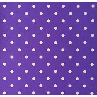 3dRose LLC 8 x 8 x 0.25 Inches Mouse Pad, Purple/White Polka Dots Whimsical Art (mp_55658_1)