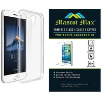 Mascot Max  Premium Transparent Tempered Glass  With Transparent Back Cover For Swipe Elite Plus