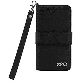 Cellet 326849 Neo Diary Wallet Case for Apple iPhone 5 - Retail Packaging - Black/Black