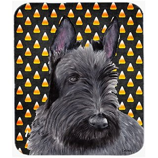 Carolines Treasures Mouse/Hot Pad/Trivet, Scottish Terrier Candy Corn Halloween Portrait (SC9184MP)