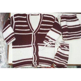 pushpdeep textile baby woolen dress