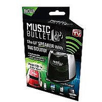 Music Bullet Mini Portable Speaker With Gigantic Sound & Kickin Bass, As Seen On TV (Assorted Color)