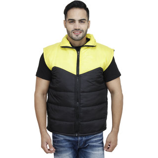 Christy's Collection Black Sleeveless Jacket For Men