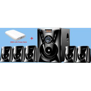 Combo of Ikall Tanyo 5.1 Speaker System with 8000mAh PowerBank