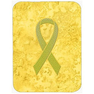 Carolines Treasures Yellow Ribbon for Sarcoma, Bone or Bladder Cancer Awareness Mouse Pad/Trivet (AN1203MP)