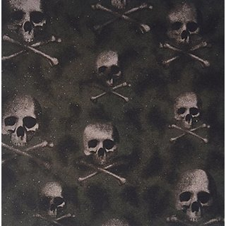 3dRose LLC 8 x 8 x 0.25 Inches Mouse Pad, Black Skulls on Camouflage (mp_60477_1)