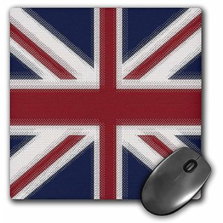 3dRose LLC 8 x 8 x 0.25 Inches Mouse Pad, Union Jack Uk (mp_60594_1)