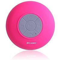 Ecandy Bluetooth Shower Speaker, Water Resistant, Hands Free Portable Speakerphone With Built-in Mic, 6 Hours Of Playtim