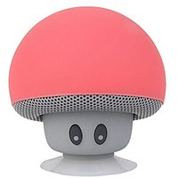 Generic Mini Cute Mushrooms Style Bluetooth Speaker With Suction Cup For IPhone IPad Samsung HTC Sony Red