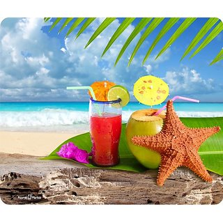 Paradise Beach Cocktail Mouse Pad
