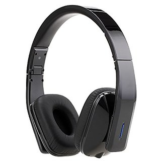 BassOne Wireless Bluetooth 4.0 headphone Stereo headset Flexible with Mic answer calling handfree Music Stream Black