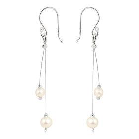 Pearlz Ocean Light Weight 925 Silver  Fresh Water Pearl Earrings.