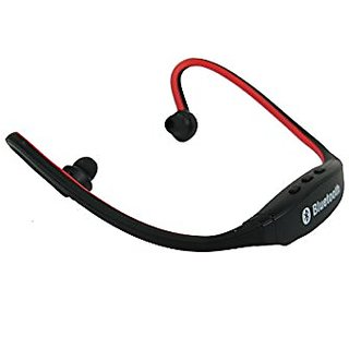 Sports Style Bluetooth Wireless Backwear Neckband Headset Headphone with Built-In MIC (Red)