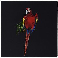 3dRose Colorful Scarlet Macaw Parrot Perched On A Tree With Green Leaves Mouse Pad (mp_171379_1)