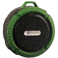 MDNA SHOWER Portable Water Resistant Wireless Bluetooth Shower Speaker With Suction Cup Microphone/Hands (Green)