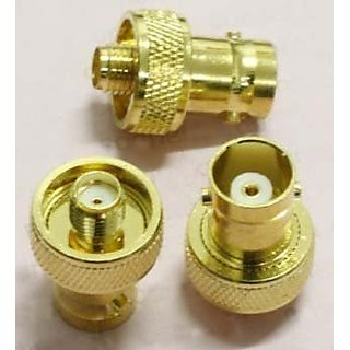RF coaxial coax adapter SMA female to BNC female goldplated