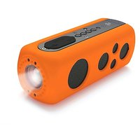 Pyle PWPBT75OR Sound Box Splash 2 Bluetooth Rugged And Splash-Proof Speaker System With Built-in Flashlight