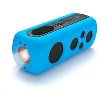 Pyle PWPBT75BL Sound Box Splash 2 Bluetooth Rugged And Splash-Proof Speaker System With Built-in Flashlight