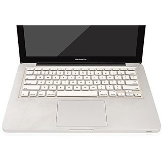 Herngee - Keyboard Cover Silicone Skin for MacBook 13 air 13 Pro 15 Pro 17 Pro (with or without Retina Display)- White