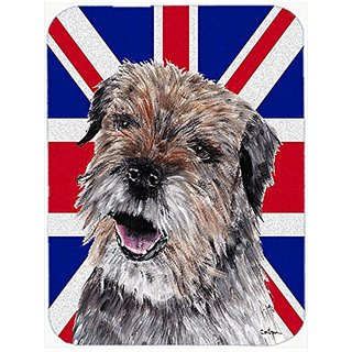 Carolines Treasures Border Terrier with Engish Union Jack British Flag Mouse Pad, Hot Pad/Trivet (SC9865MP)