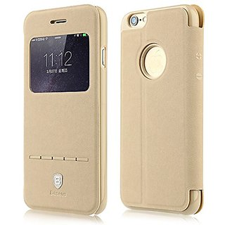 Baseus iPhone6/6S Protective Skin Case Terse Classic Series Ultra Thin Protective Case Smart Window Compatible for iPhon