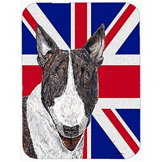 Carolines Treasures Bull Terrier with Engish Union Jack British Flag Mouse Pad/Hot Pad/Trivet (SC9861MP)