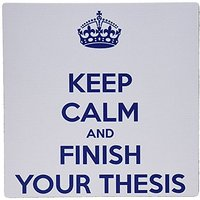 3drose Keep Calm And Finish Your Thesis White And Navy - Mouse Pad