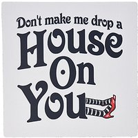 3dRose 8 X 8 X 0 25 Inches Dont Make Me Drop A House On You Wicked Witch Of The West Mouse Pad (mp_159604_1)