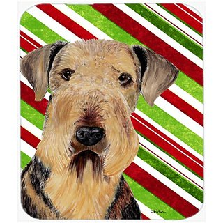 Carolines Treasures Mouse/Hot Pad/Trivet, Airedale Candy Cane Holiday Christmas (SC9333MP)