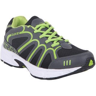 Duke Men Gray Lace-up Running Shoes